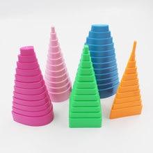 5 uds/1 Set creativo Papercraft forma De La Torre herramientas para filigrana de papel molde mixtas manualidades hágalo usted mismo Artesanía Alrededor de la torre de papel