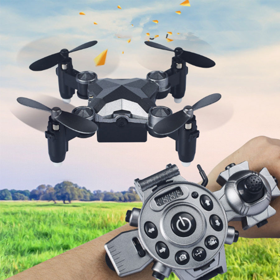 Latest Watch Style WIFI FPV RC Folding drone DH-800 2.4G mini Selfie drone With 0.3MP Camera pocket remote control quadcopter