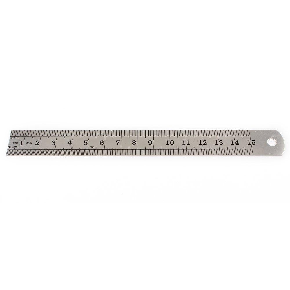 Hot 15cm 6 Inch Stainless Metal Ruler Measuring Tool
