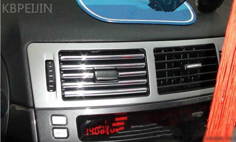 3 m auto aria condizionata presa di U di Stile decorazione striscia di Griglia Cromata per BMW e46 e90 e39 f30 f10 e36 e60 x5 e53 f20 car styling