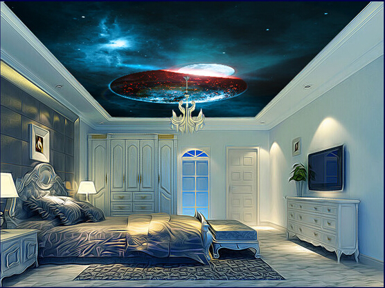 Custom wallpaper 3D, fantasy universe star wall for the living room bedroom ceiling wall waterproof embossed wallpaper custom baby wallpaper snow white and the seven dwarfs bedroom for the children s room mural backdrop stereoscopic 3d