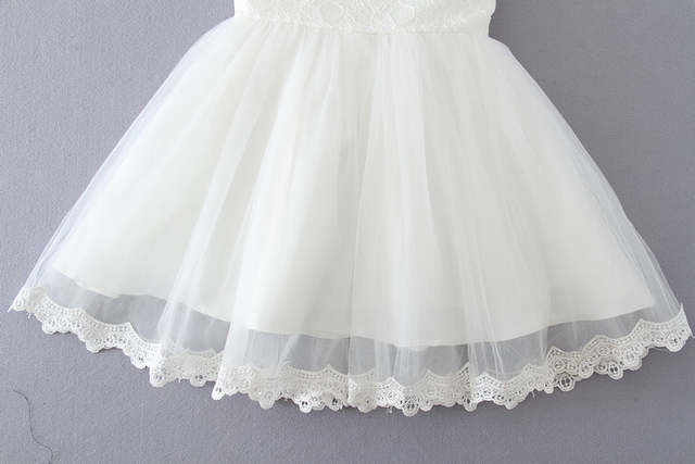 456f2db6d5513 US $15.57 30% OFF|HAPPYPLUS Elegant Pink/White Baby Dresses Summer Baby  Girl Bows Formal Dress for Wedding Princess Baby Dress Birthday 1 Year-in  ...