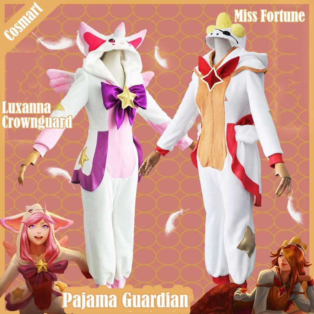 Game Lol Miss Fortune Luxanna Crownguard Cosplay Costume Pajama Star Guardian Winter Jumpsuit Halloween Party Suit For Women Men Game Costumes Aliexpress