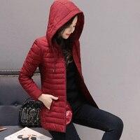 Winter Hooded Jacket Coat Women Ultra Light Womens Plus Size Parkas Outerwear Women Slim Cotton Padded Jacket Plus Size 4XL 5XL
