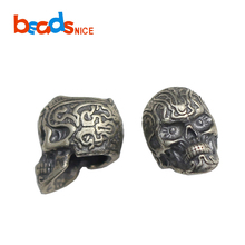 Beadsnice ID38393 925 Sterling Silver Skeleton Head Skull Beads for Chain Jewelry Making