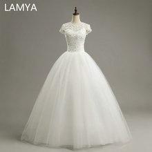 LAMYA Custom Size Romantic Lace Wedding Dress Fashionable Short Bride Gowns Cheap Bridal Dresses vestidos de novia