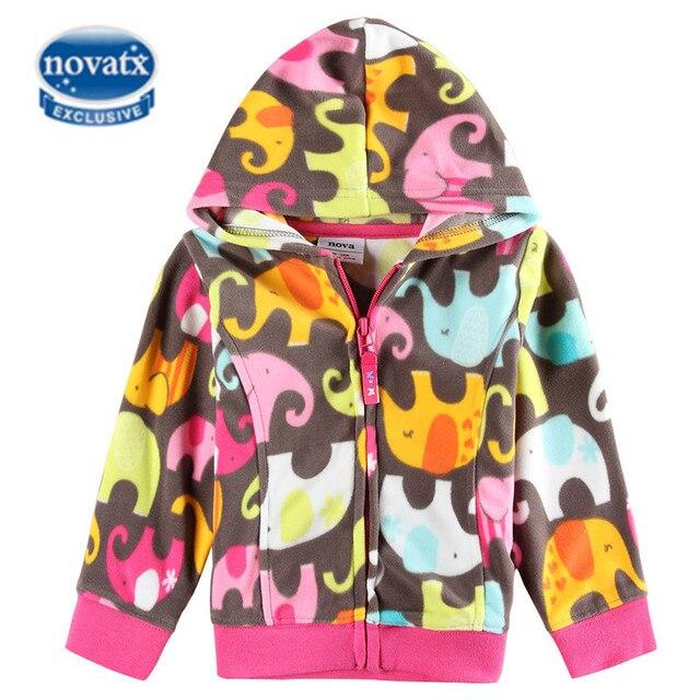 Novatx куртки для девочек Толстовки Пальто для будущих мам Демисезонный теплые флисовые куртки для девочек детская модная верхняя одежда брендовая одежда для детей f2913