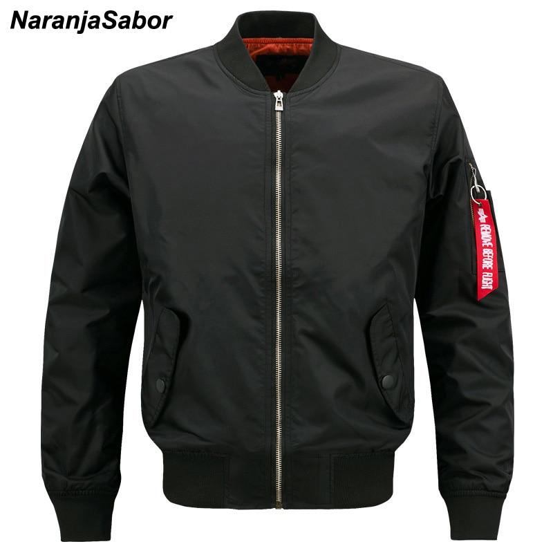 Мужская куртка-Авиатор NaranjaSabor, куртка-пилот в стиле милитари на весну и осень, 8XL, 2020