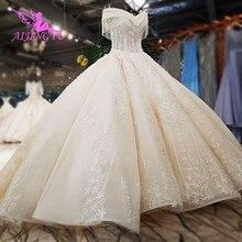 AIJINGYU Neue Kleider Arabischen Nova Saudi arabien Mutter Der Bräutigam Zweite Ehe Plus Größe Muslimischen Kleid Pailletten Hochzeit Kleid