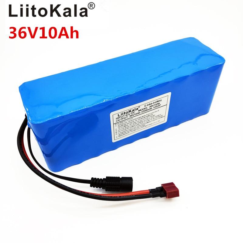 LiitoKala 36 v 10Ah 10S3P 18650 batterie Rechargeable, moto modifiée, chargeur de batterie de véhicule électrique li-lon + 36 V 2A char - 2