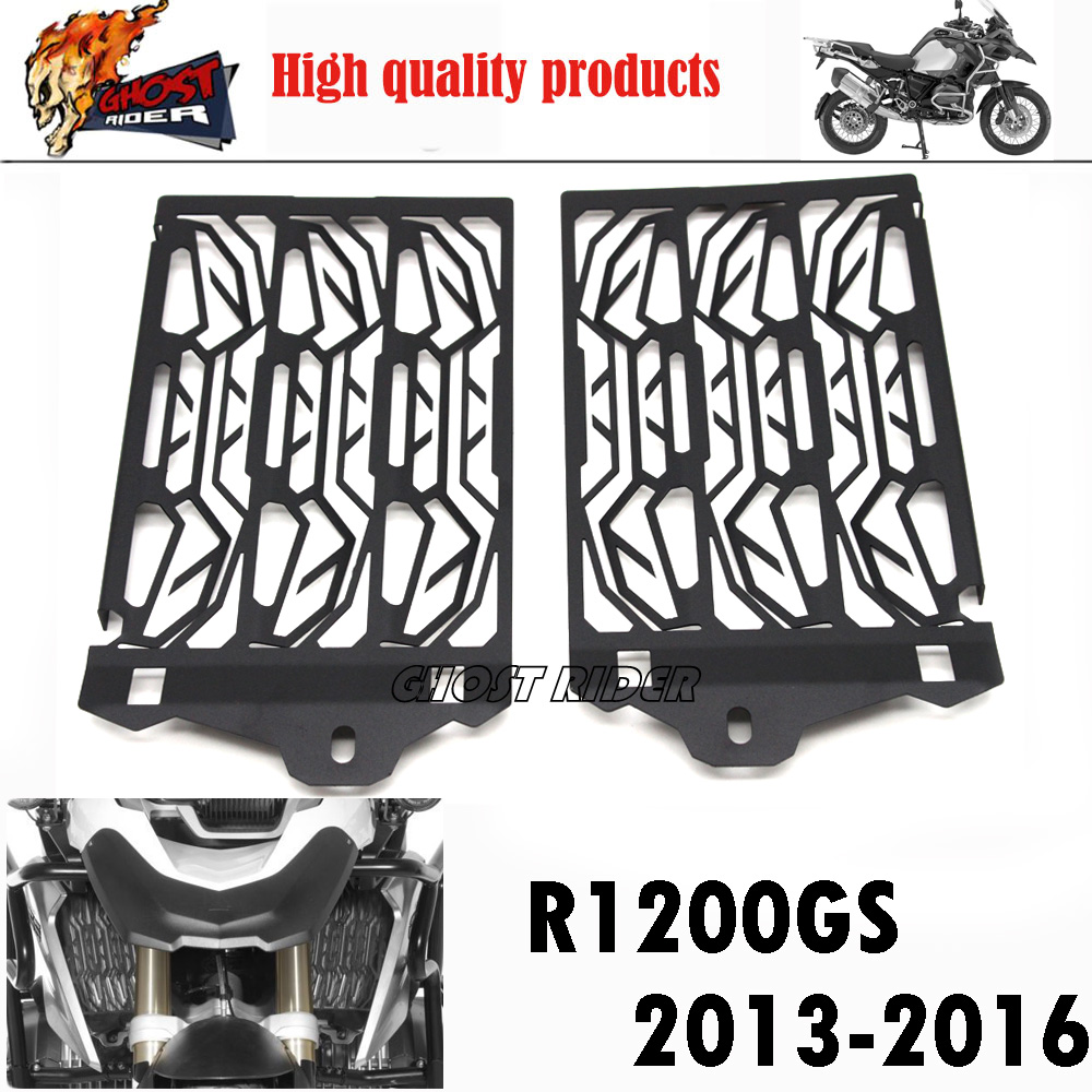 2016 New Arrival Stainless Steel Motorcycle Radiator Guard For BMW R1200GS 2013 2014 2015 2016 Free shipping stainless steel motorcycle radiator guard cover protector for bmw f800r 2009 2016 2010 2011 2012 2013 2014 2015 f800 r new