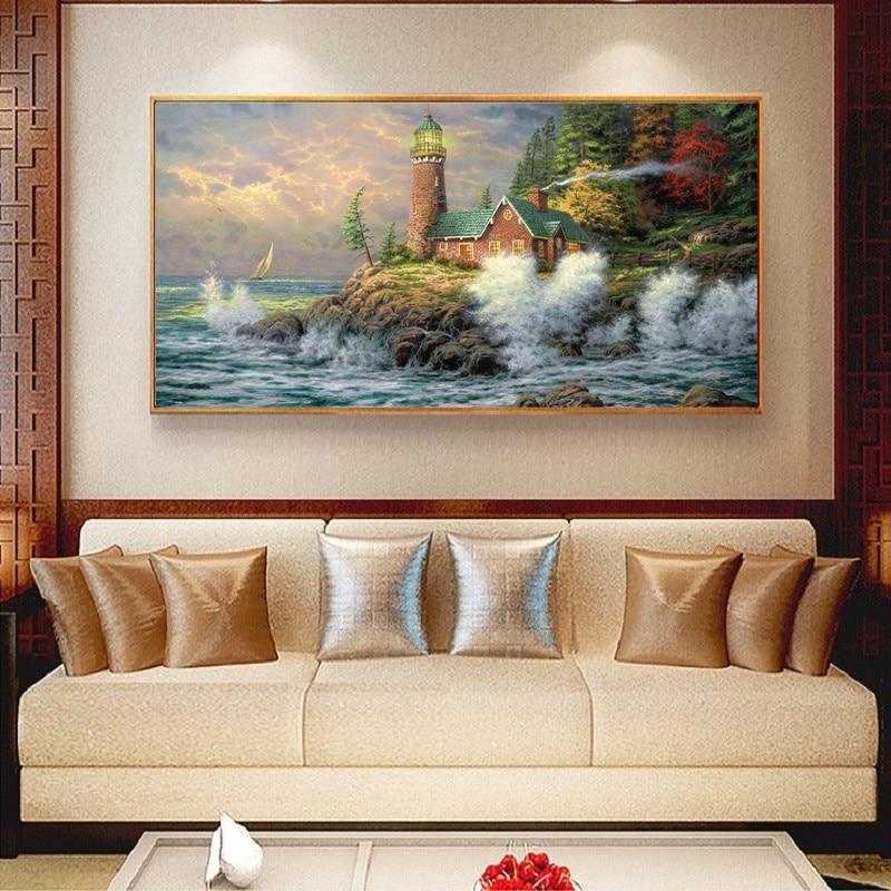 5D diy diamante bordado junto al mar fotos del jardín decoración - Artes, artesanía y costura - foto 1