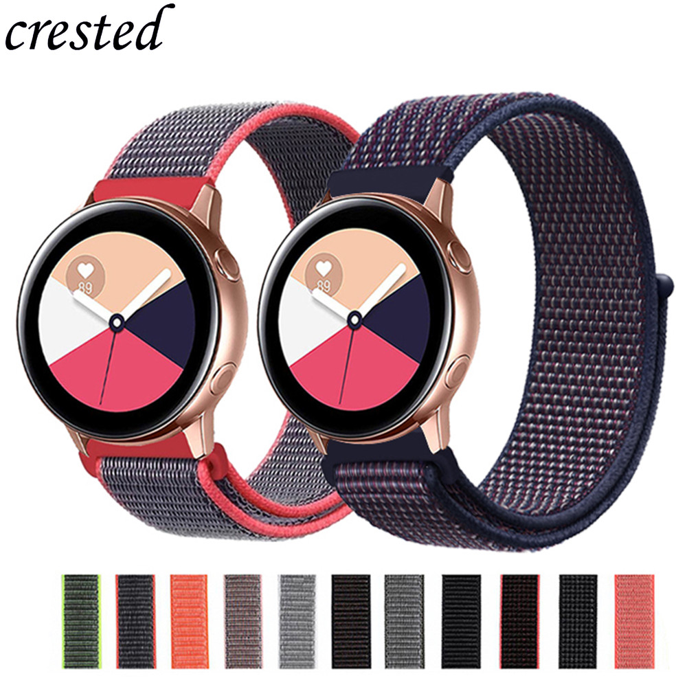 Gear S3 Frontier Strap For Samsung Galaxy Watch Active/46mm/42mm Band Nylon Bracelet 22mm/20mm Watch Strap Amazfit Bip S 3 46 Mm