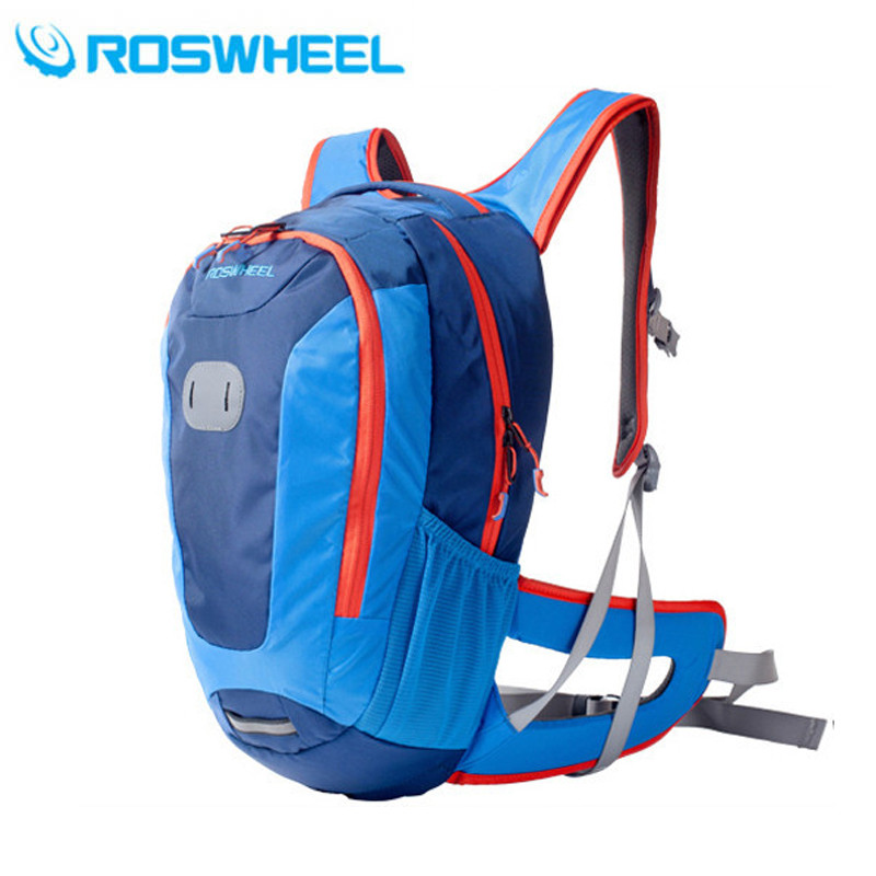 ROSWHEEL 18L Cycling Bag Waterproof MTB Bike Shoulder Backpack Sport Breathable Outdoor Riding Bicycle Bag 3 Colors car auto accessories rear trunk molding lid cover trim rear trunk trim for nissan sunny versa 2011 abs chrome 1pc per set