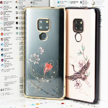 Kingxbar Diamond Cover For Huawei Mate 20 Pro SWAROVSKI Elements Crystals Rhinestone Case For Huawei Mate 20 Luxury Clear Cases