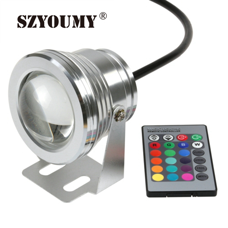 Szyoumy 16 Colors 10w 12v Rgb Led Underwater Fountain Light 1000lm Swimming Pool Pond Fish Tank Aquarium Led Light Lamp Can Be Repeatedly Remolded. Led Underwater Lights Lights & Lighting