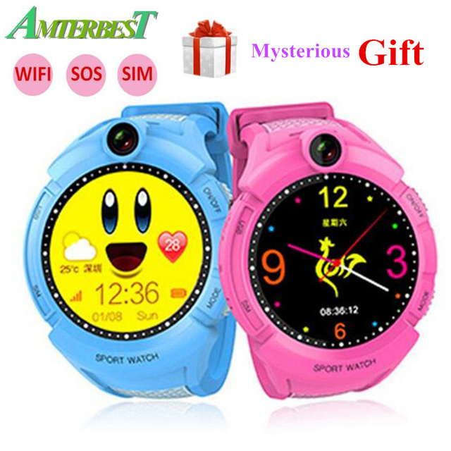 AMTERBEST Kids Smart Watch with Camera GPS WIFI Location Child smartwatch SOS Anti-Lost Monitor Tracker baby WristWatch PK Q528