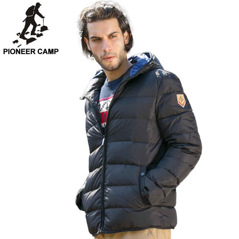 b1db8ce6d0cc Pioneer Camp 2017 new arrival winter mens down jacket thicken white duck  down coat casual men brand clothing male parkas-in Down Jackets from Men s  Clothing ...