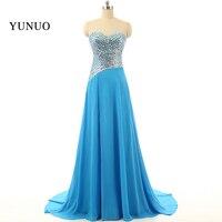 Abendkleid 2018 Nowych Moda Prawdziwa Próba Kochanie Syrena Royal Blue Satin Długa Suknia Prom Dresses Rhinestone