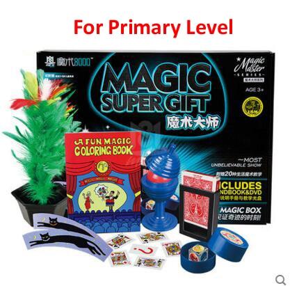 Classique enfants tours de magie set jouets super haute qualité avec manuel DVD tours de magie spectacle de scène cadeau pour les enfants - 2