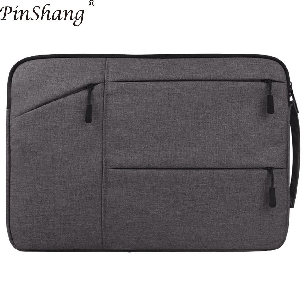 Bild von PinShang Laptop Bag for Air Pro Retina 11 12 13 14 15 15.6 inch Laptop Sleeve Case handbag Cover for Xiaomi Air bags women ZK30
