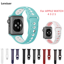 Silicone Sport strap For Apple Watch 4 Band 44mm 40mm IWatch band 42mm 38mm Bracelet soft rubber apple watch 4 3 2 1 accessories недорого