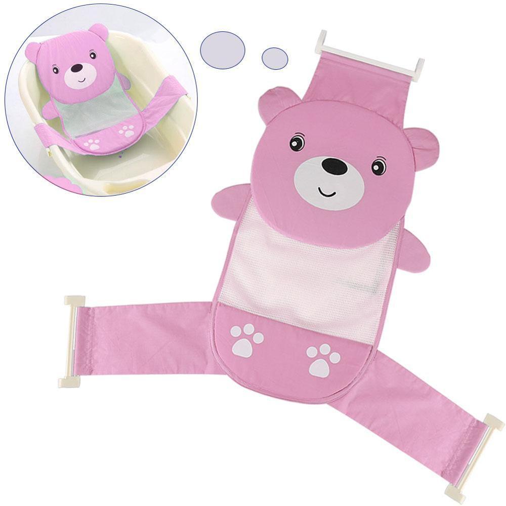 Мягкая подушка для ванны для новорожденного ребенка, плавающая Подушка с воздушной подушкой, подушка для купания малыша, подушка для душа, пищевая пена - Цвет: Baby Bath Seat Pink