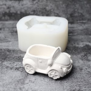 Image 5 - Molde de silicona para hormigón con forma de coche, macetas de resina epoxi hechas a mano, maceta de cemento artesanal