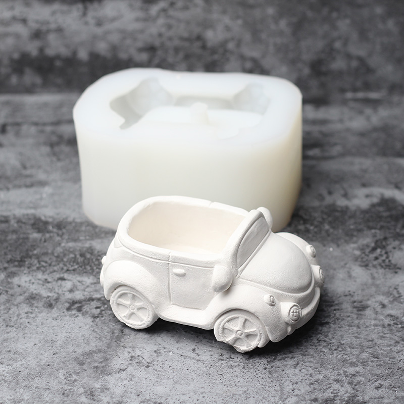 Image 5 - Silicone Concrete Mold Cartoon Car Shape Concrete Flower Pots 