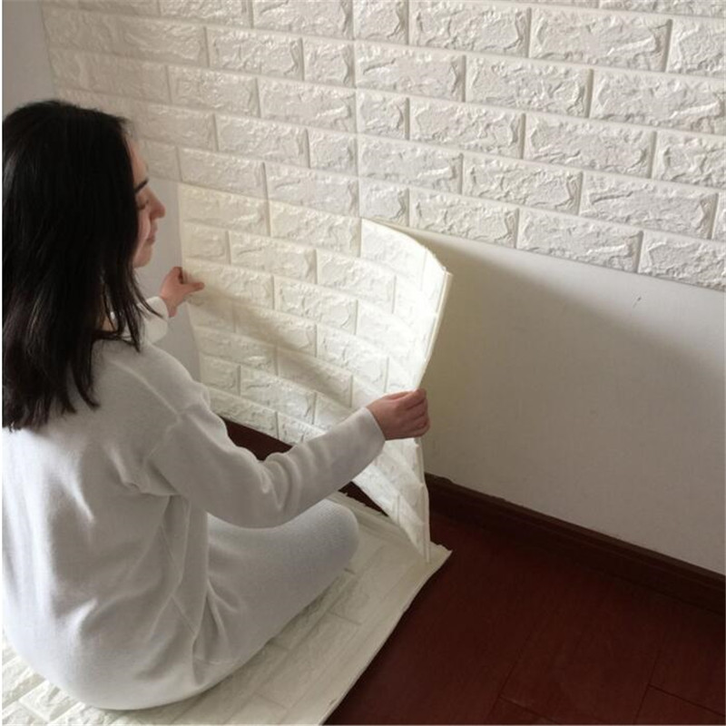 3D Wall Stickers Kindergarten Bedroom Modern living room Wallpaper art DIY Self-adhesive Elastic Brick Anti-collision Home Decor marble 3d three dimensional wall stickers self adhesive renovation brick pattern living room background dzas lq wallpaper