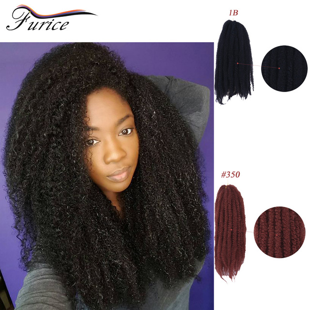 Afro Kinky Curly Crochet Synthetic Braiding Hair Extensions Single