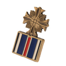 S US Cross Medaglia Lapel Hat Pin Air Force Distinguished Flying Colore Oro(China)
