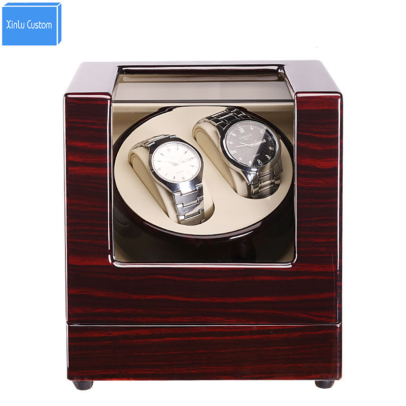 Luxury Watch Winder 2 Grids 5 Color&4 Plug Electric/Battery Support Mechanical Watches Japan Mute Mabuchi Motor, Drop Shipping ultra luxury 2 3 5 modes german motor watch winder white color wooden black pu leater inside automatic watch winder