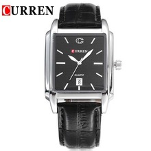 Nueva Rectangular ocasional de negocio de cuarzo relojes de pulsera impermeable para hombre Reloj Relogio hombre Reloj Reloj hombres tiempo