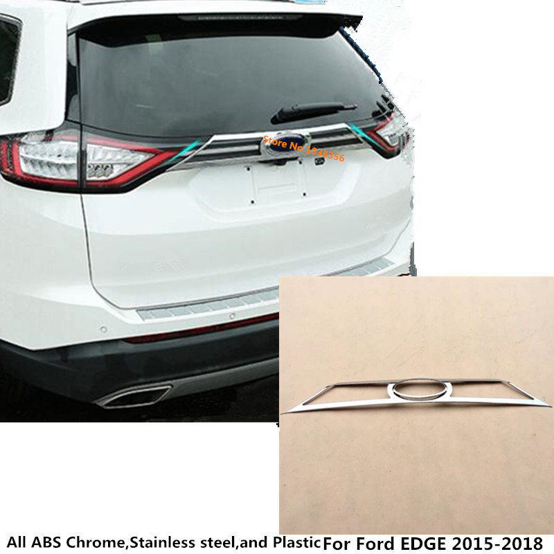 car Styling auto body Rear back bumper cover ABS chrome Wrap license trim frame lamp panel For Ford EDGE 2015 2016 2017 2018