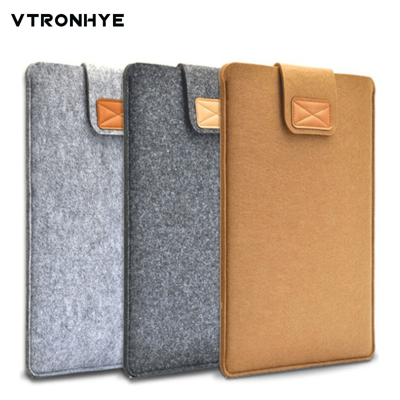 Laptop Sleeve 17.3 Inch Super Slim Vertical Wool Felt Sleeve Pouch Bag 11 13 14 15.6 17.3 For Macbook Dell Acer Asus Notebook