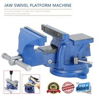 Professional 5 Inch 125mm Heavy Duty Work Bench Vice Operation Platform Vise Workshop Clamp Engineer Jaw Table Swivel Base Tools