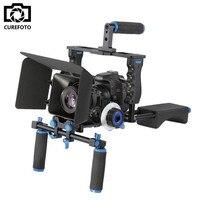 DSLR Rig Video Stabilizer Shoulder Mount Rig+Matte Box+Follow Focus+Dslr Cage for Canon Nikon Sony DSLR Camera Video Camcorder
