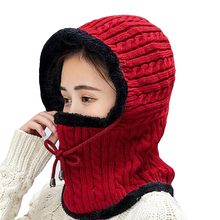 Winter Knitted Hat Beanie Women Scarf Skullies Beanies Hats For  Men Caps Gorras Bonnet Mask Brand 2019