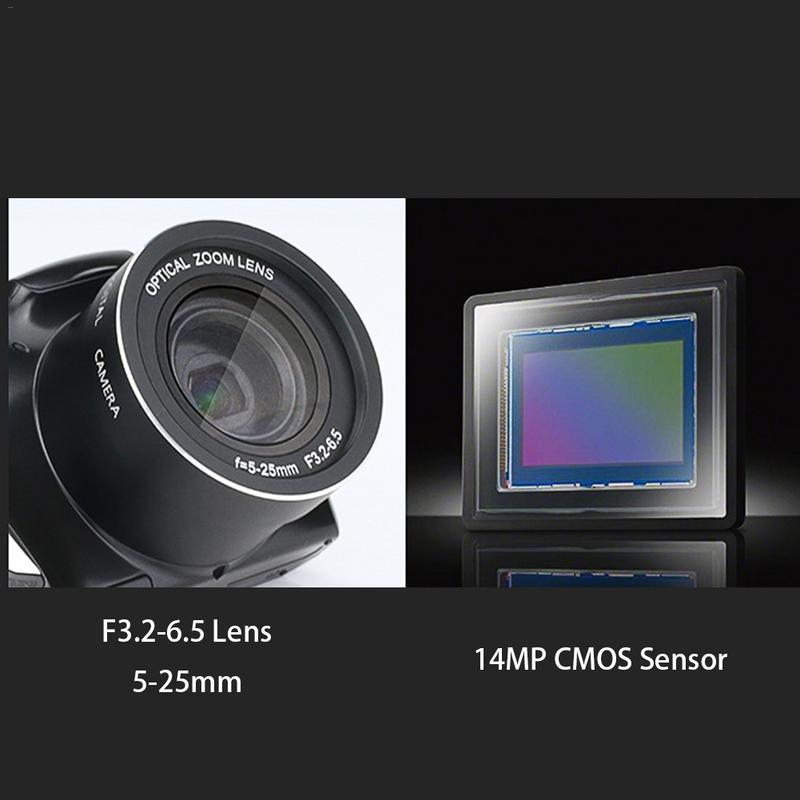 24 Megapixel Telephoto HD Home Photography SLR Digital Camera CMOS Sensor 20x Zoom JPEG/AVI 3.5