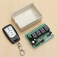 200m DC 12V 4CH Wireless Remote Control Controller Radio Switch 315mhz Transmitter Receiver High Sensitivity