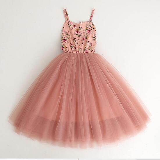 3d9fc4700b8 2-12Years Элегантный Дети девушки платье принцессы из тюля подростков пачка  для девочки платье