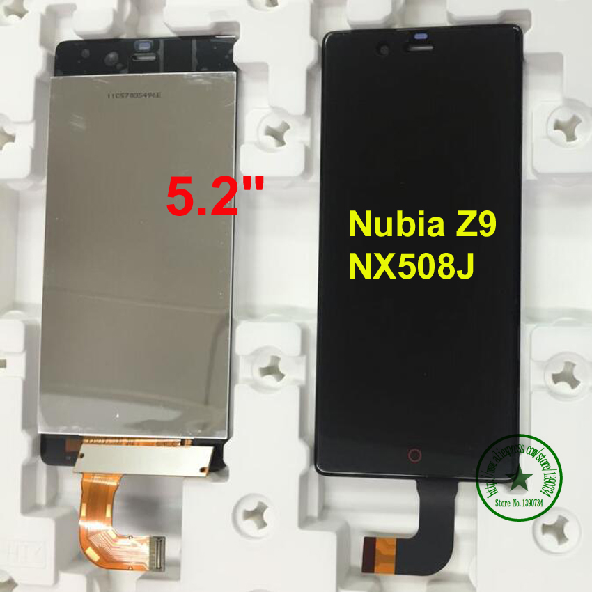 5.2 inch Black for ZTE Nubia Z9 NX508J Original LCD Display Touch Screen Digitizer Assembly Replacement Repair Spare Parts