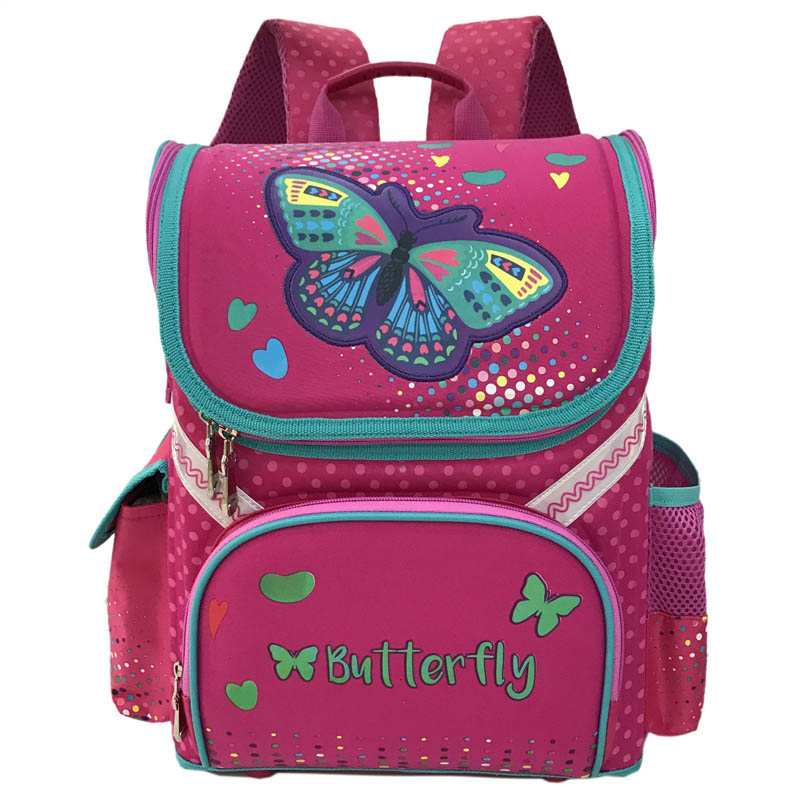 2017 Grade 1-3-5 Princess Girl New School Backpack Children Cartoon Cat Kids Backpack Orthopedic School Bag For Boys coulomb princess star backpack for girl school bag orthopedic randoseru japanese pu hasp waterproof baby book bags 2017 new page 6