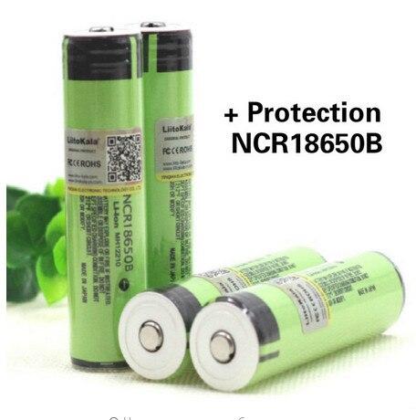 4 шт.. Liitokala Новый Оригинальный NCR18650B 3.7 В <font><b>3400</b></font> мАч + защита <font><b>18650</b></font> литиевая батарея с PCB Фонарь Батареи
