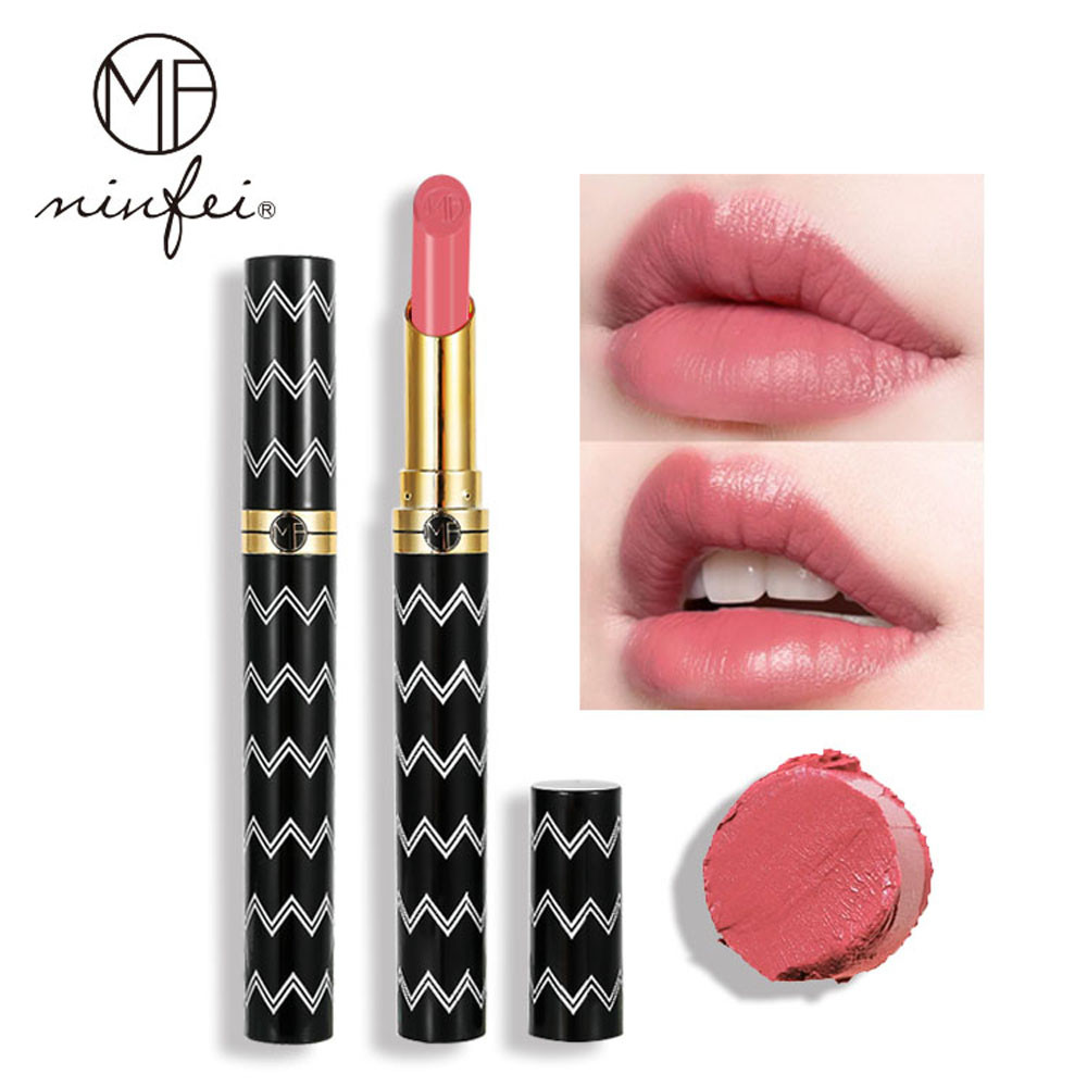 2018 Brand New12 Color Cosmetics Matte And Pumpkin Color Bean Paste Lip Solid Gloss Lipstick Makeup Natural Woman Gift Free Ship 4