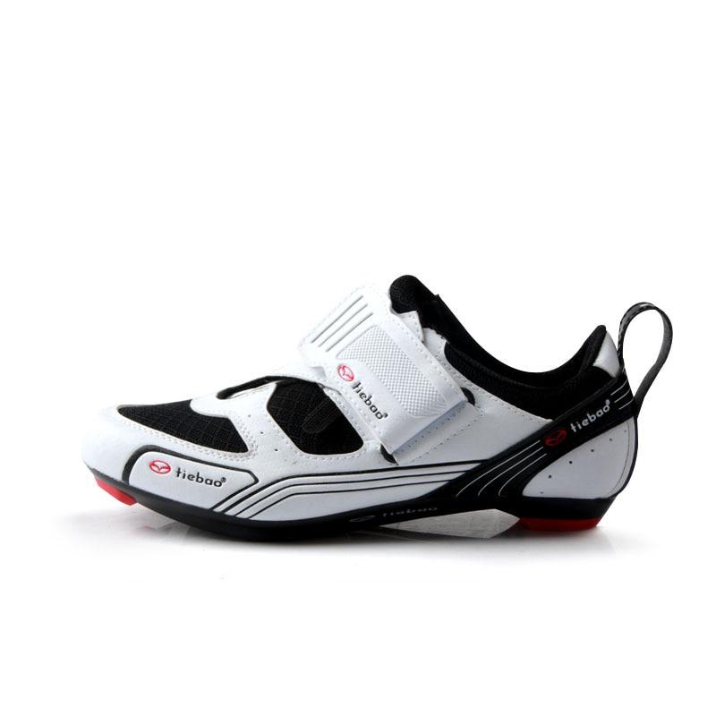 TIEBAO Triathlon Vélo Chaussures Dur Semelle Chaussures De Vélo SPD Taquet Vélo Chaussures Léger Route Cycle Chaussures R1691