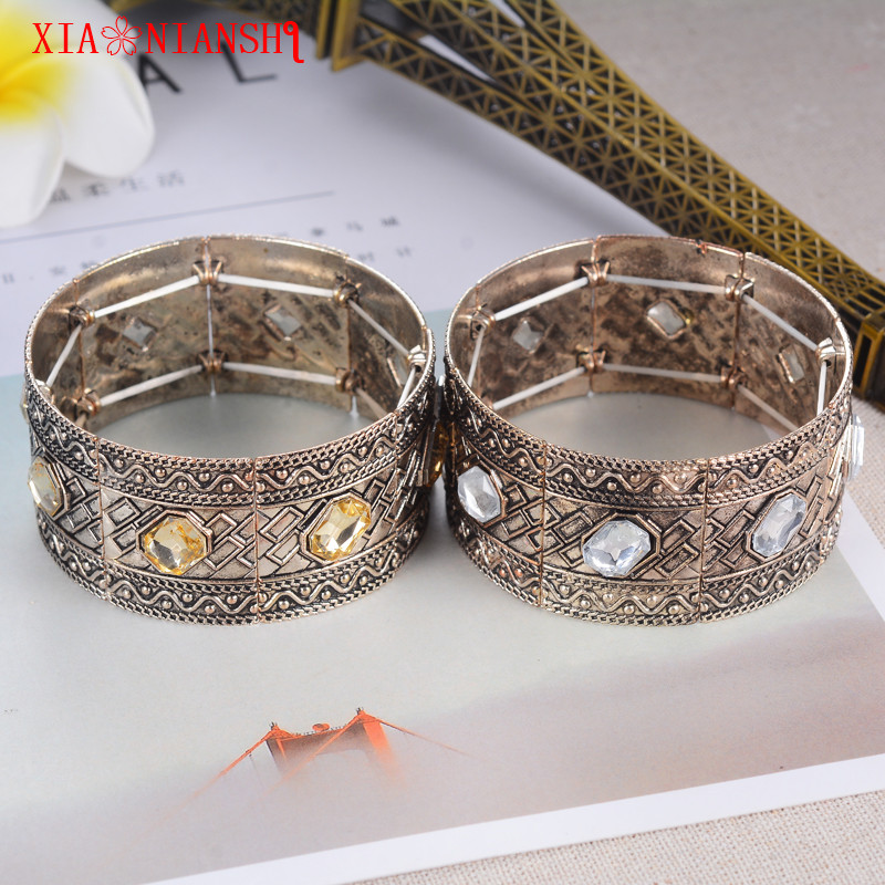 Newest 5 Crystal Pulsera hombre Fashion Turkish Men Bracelet Size Adjustable Cuff Bracelet Bangles For Women Jewelry Accessory