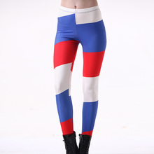 New Arrival 3204 Sexy Girl Russia France Netherlands Flag Printed Elastic Fitness Polyester Workout Women Leggings Pants