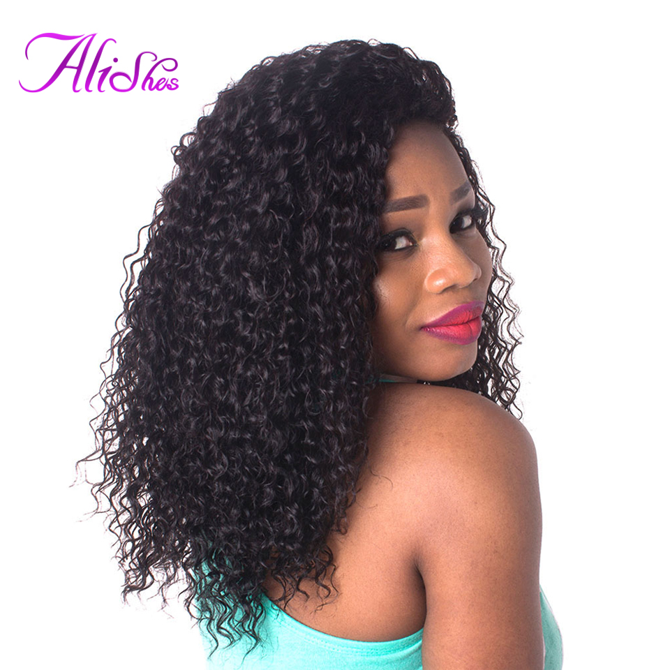 Alishes Long Malaysian Curly Hair Wigs Bleach Knots Lace Front Human Hair Wig With Baby Hair